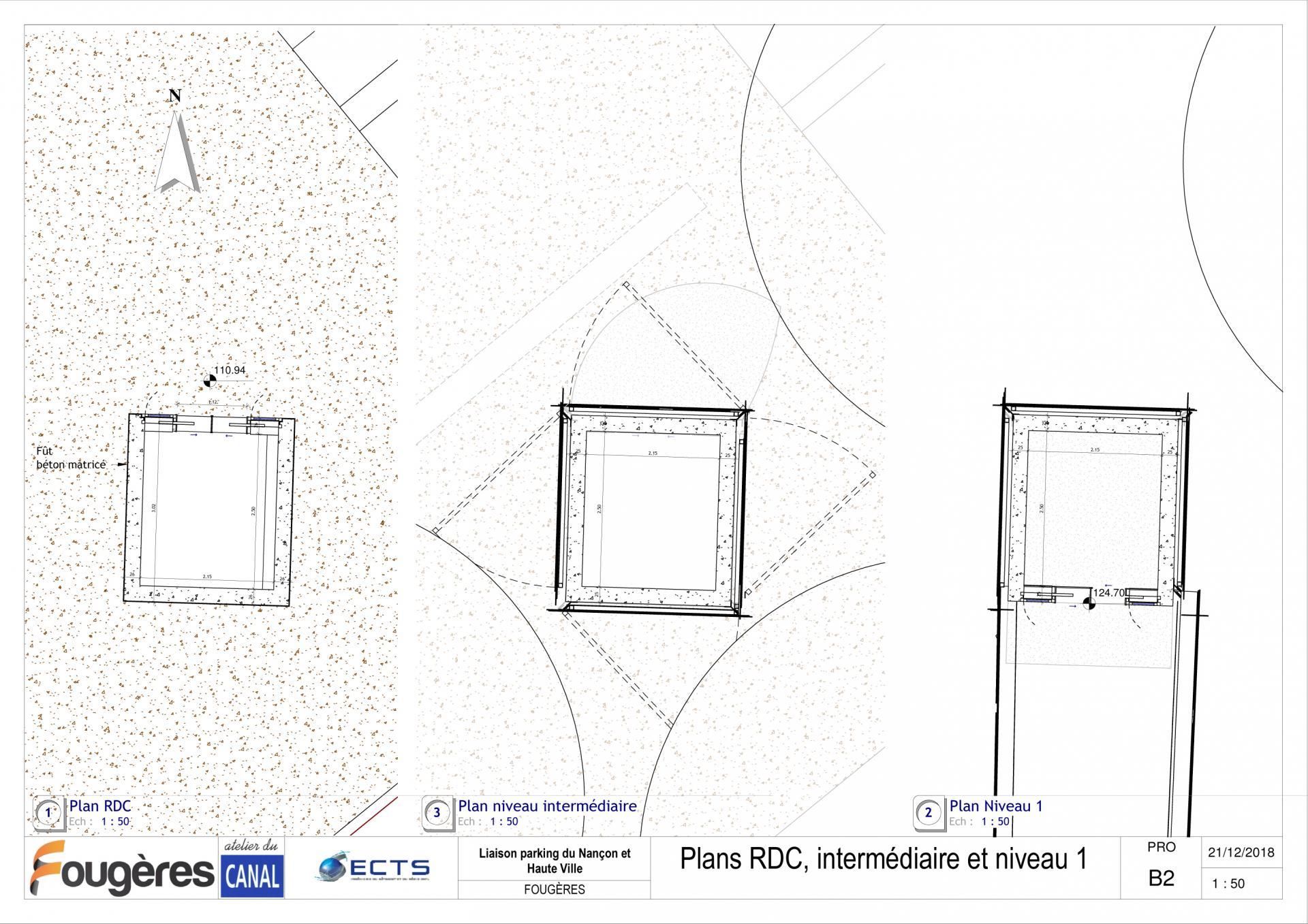 Adc fop pro b2 plans rdc intermediaire et niveau 1